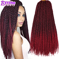 3D TM Cubic Twist Crochet Braids Afri Naptural TM Split Synthetic Ombre Havana Mambo Senegalese Freetress Twist Hair Extensions