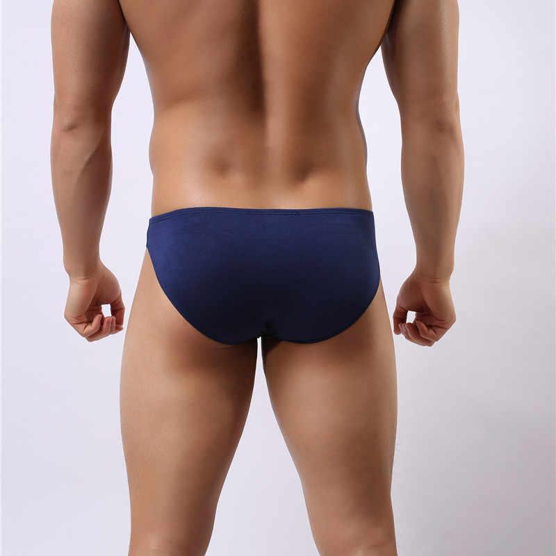 Bán Buôn Sexy Nam Quần Lót Modal Quần Đùi Quần Short Mềm Phồng Túi Quần Lót Trơn Trượt Homme Quần Sịp Nam Bikini 10 Màu Sắc Quần Lót