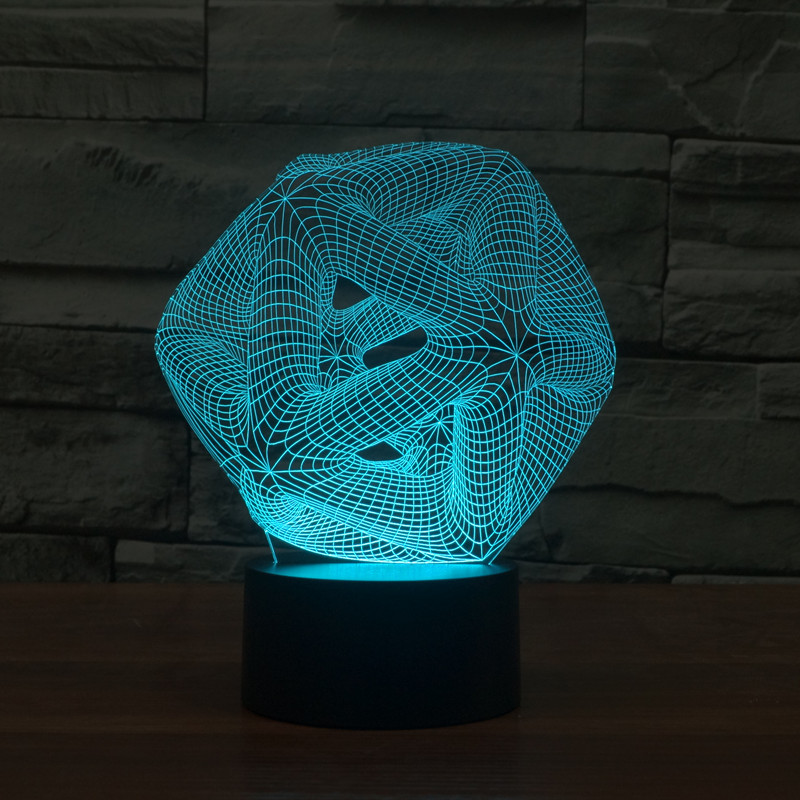 new abstract 13 3D lights colorful touch LED visual lamp decoration atmosphere desk lamp