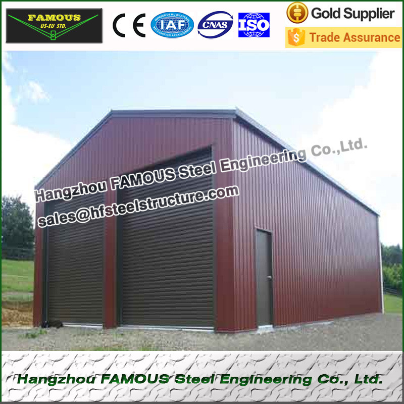 15m Length 10m Width 4m Height Structural Steel Shed For Storage