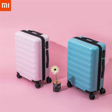 XIAOMI 90FUN PC Suitcase Colorful Carry on Spinner Wheels Rolling Luggage TSA lock Business Travel Vacation for Women men xiaomi 90fun business travel dual function rolling luggage with lock spinner pc suitcase trolley carry on travel bag 20 24 28