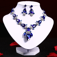 Free Shipping Gorgeous Water Drop Crystal Necklace And Earring Set With Bridal Headband Tiara Jewellery Exquisite
