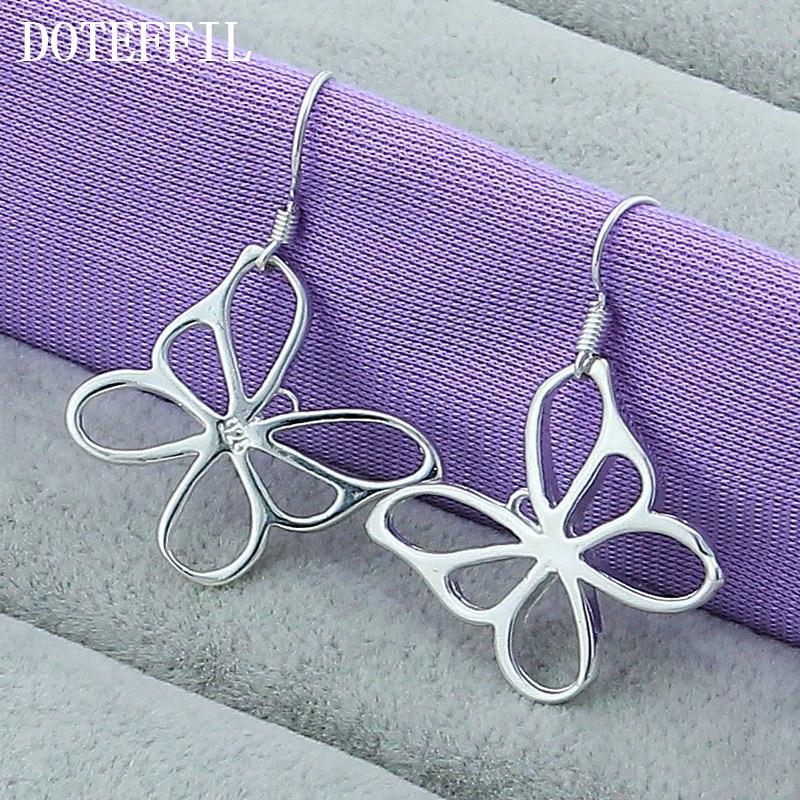 Купить женские серьги подвески doteffil из стерлингового серебра 925