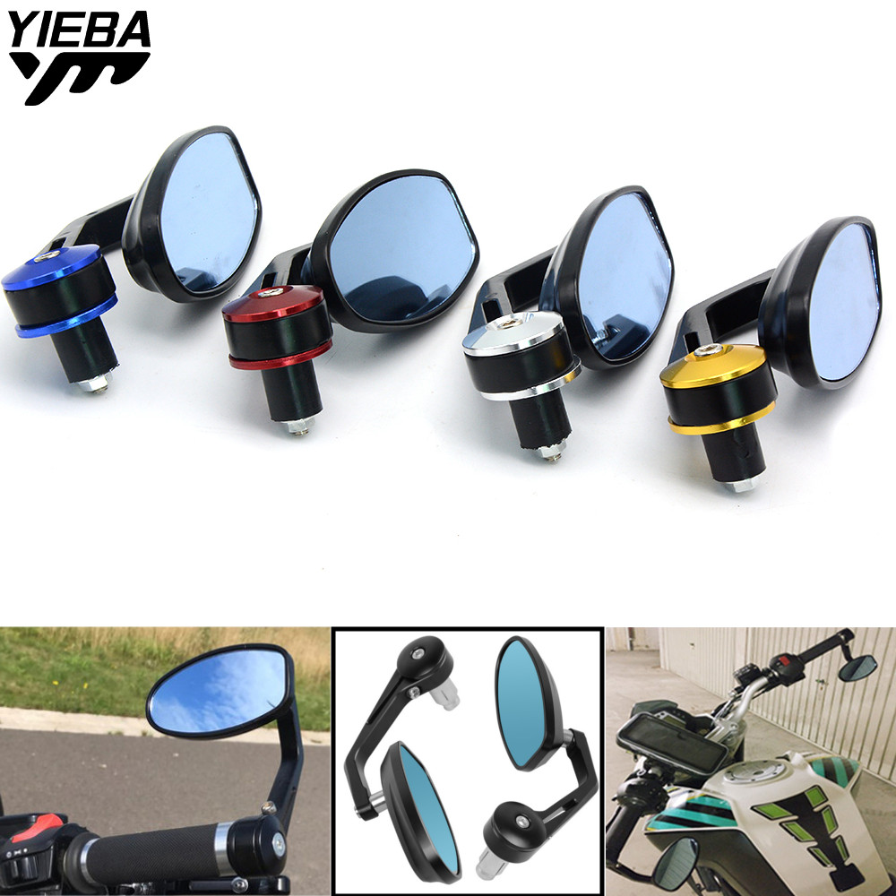 Motorcycle mirrors bar end mirror Rear view handlebar end mirror 22mm For SUZUKI SV 650 sv650s TRIUMRH AMERICA/LT <font><b>TT</b></font> 600 MT01 image