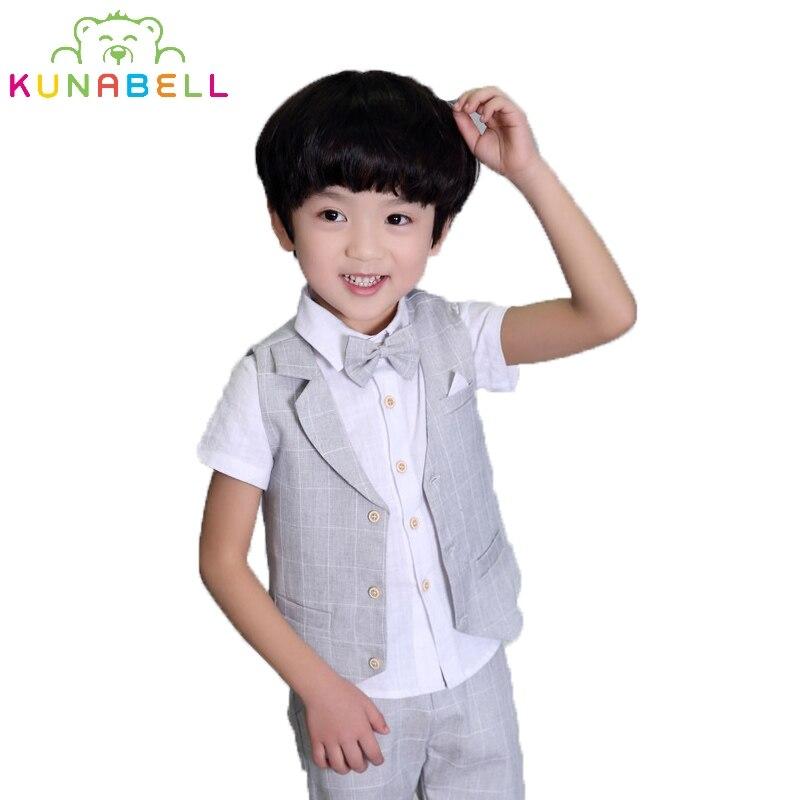 Children Suit Baby Boy Birthday Dress Kids Blazer Boys Formal Suit For Weddings Boys Shorts Clothes Set Vest Pants Shirt F3 2pcs set baby clothes set boy
