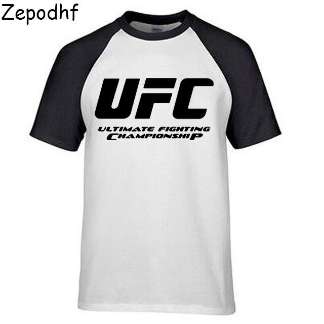 dd3985901a Ultimate Fighting Championship Ufc men t Shirt 2017 cotton t Shirt 2017  Euro Size XS-XXXL Tops Casuals t-Shirt men