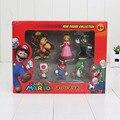 Super Mario Bros Peach Toad Mario Luigi Yoshi Donkey Kong PVC Figuras de Acción Juguetes Muñecas 6 unids/set Nuevo en Caja