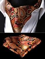 Classic Pocket Square Fashion Necktie Paisley Mens Silk Jacquard Cravat Ascot Party Wedding Tie Handkerchief Set
