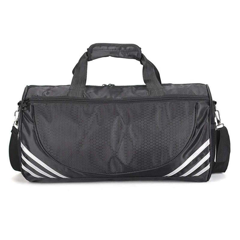 Outdoor Sports Training Gym Bags Fitness Travel Outdoor Sports Bag Handbags Shoulder Dry Wet Shoes For Women Men-Black+White