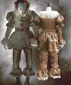 Image 3 - Clown cosplay Stephen Kings It Pennywise Cosplay Costume Adult men women Fancy Halloween horror costume Men adult mask