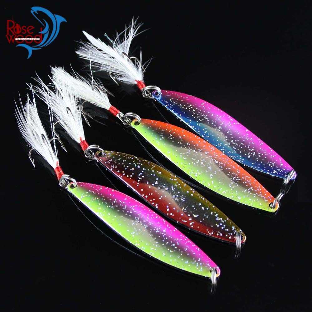 4 Cái/lốc Mồi Câu Cá Kim Loại Thìa Cứng Bait 12.5 gam 18 gam kim loại Cá Lure Spinner Bả Cá Fish Treble Hooks Giải Quyết Salmon Bass