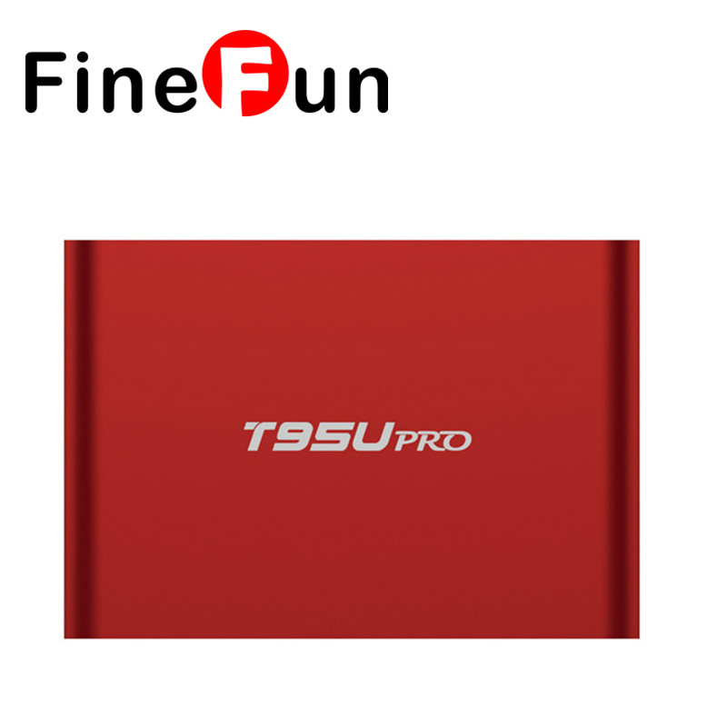 FineFun T95U PRO Android 6.0 Smart TV Box Amlogic S912 Octa core 2GB/16GB Dual Band WiFi Kodi VP9 H.265 UHD 4K HDD Player #A1539 m8 fully loaded xbmc amlogic s802 android tv box quad core 2g 8g mali450 4k 2 4g 5g dual wifi pre installed apk add ons