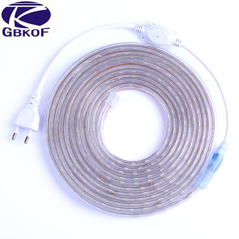 Tiras de Led com cabo de alimentação 1 Especificações (pontos de Luz / M) : 60leds/m