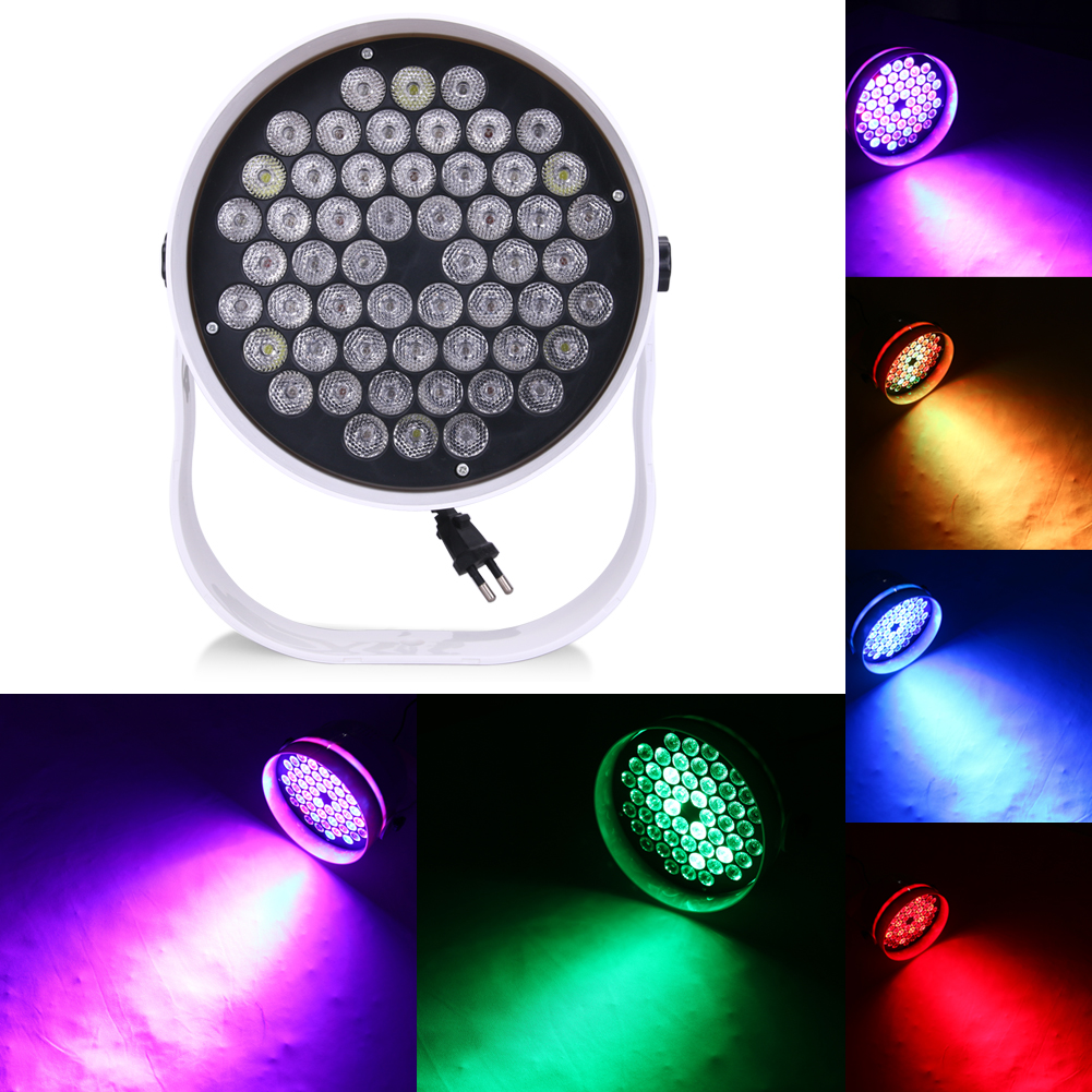 ФОТО Hot Sell 72W 3 in 1 RGB Plastic Cycling and Stage Lighting 6CH DMX Par Disco Party DJ Pub Light