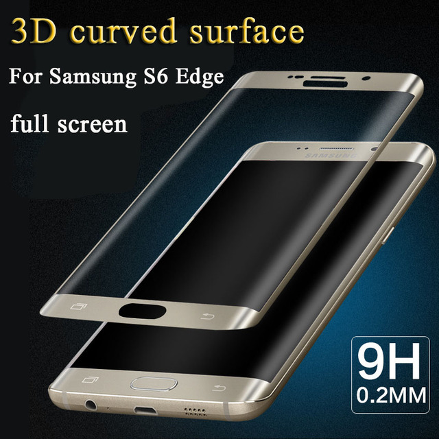 separation shoes d1898 dbaa4 US $4.99 |Screen Protector for Samsung Galaxy S6 Edge Tempered Glass Film  for Galaxy S6 Edge G9250 Full Coverage Glass Cover Thin Coating-in Phone ...