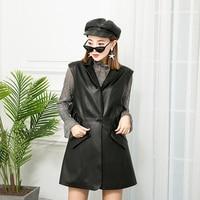 The new body trim is thin vest suit women's wear long range waist Lotus leaf side girl