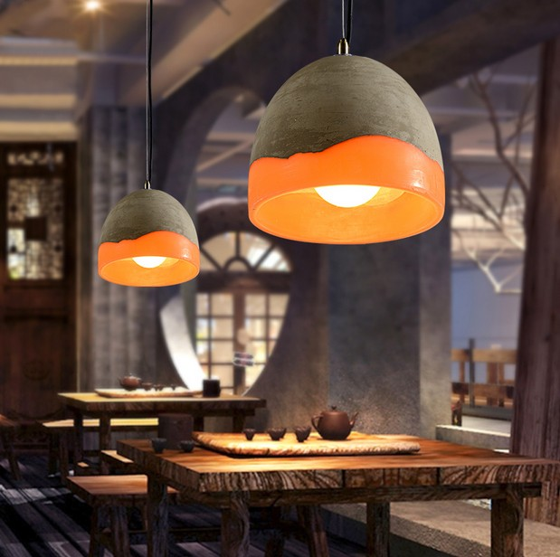 Loft Style Industrial Vintage Pendant Light Fixtures For Dining Room LED Hanging Lamp Indoor Lighting Art Cement Droplight loft style industrial vintage pendant light fixtures for dining room led hanging lamp home lighting art cement droplight