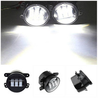 4 Inch 30W LED Round Driving Passing Fog Lights for Jeep JK CJ TJ Wrangler 2011 2012 Dodge Charger