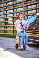 Электрический Дорожный чемодан на колесиках для верховой езды. роскошная умная сумка для переноски багажа робота. Вместительная умная Сумк