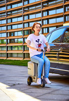 Electric Riding Trolley Travel Suitcase.Luxurious Intelligent Carry on Robot Luggage. ride trunk smart valise boarding bag. 2