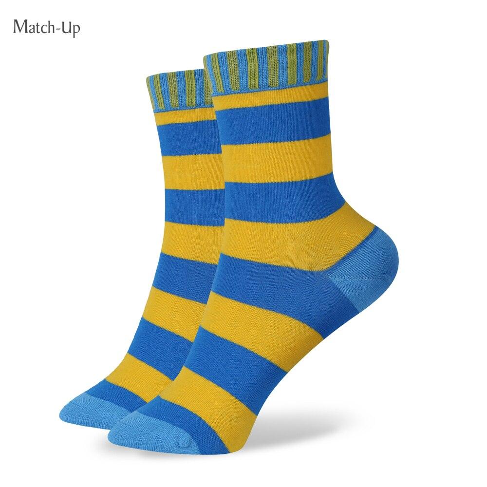 Match-Up Girls Socks 100% Cotton Sock Multicolour Stripe