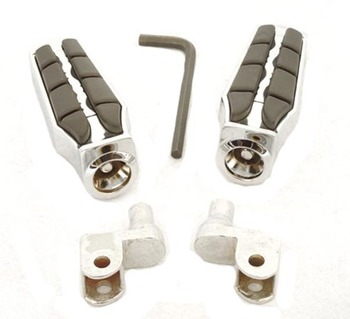 Chrome Wing Foot Pegs Rests For 1997-2003 Honda ACE 1100 Tourer (Front)