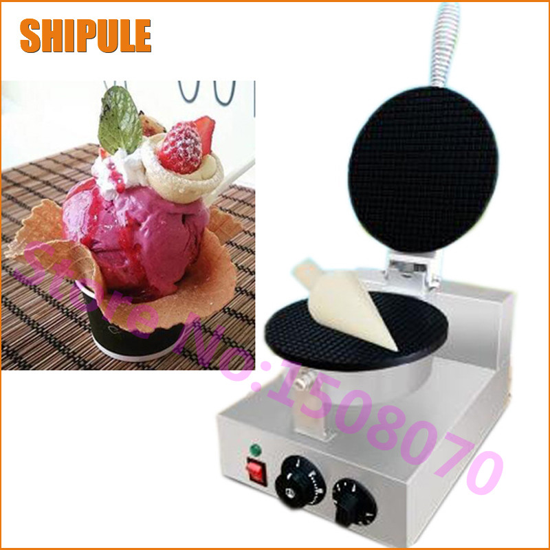 Wholesale products commercial ice cream cone machine SHIPULE small industrial cone maker waffle machine edtid new high quality small commercial ice machine household ice machine tea milk shop