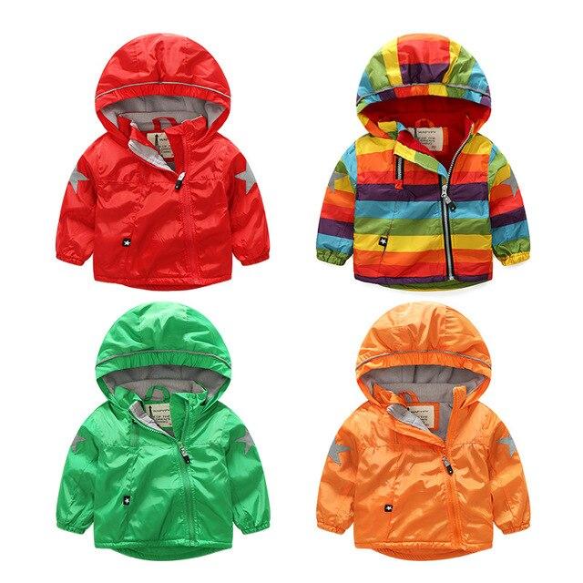 1071c5d94 Kids Toddler Boys Jacket Coat Spring Autumn Hooded Windbreaker For ...