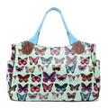 Fashion  women handbags travel handbag matching colour bag  butterfly handbags famous 5 kinds of color oilcloth material