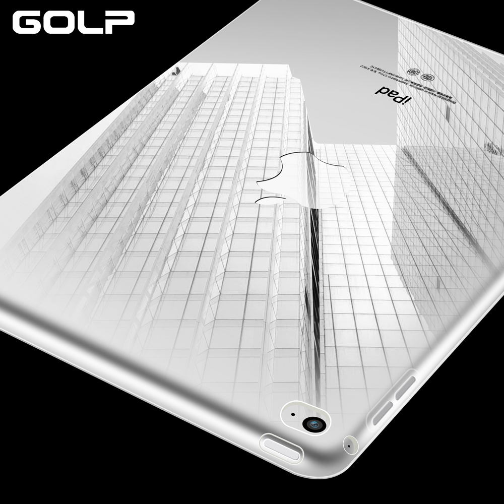 For iPad Air 2 Case, GOLP Soft TPU Case For iPad Air 2 case Cover Shell, Transparent Soft Silicone Back Cover for iPad 6 for ipad air 2 air 1 case silicone soft tpu back cover ultra thin slim pu leather smart cover for ipad air case