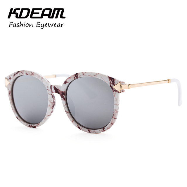 5ce74be9b47 KDEAM Steampunk Goggles Ladies Round Sunglasses Brand Arrow Metal-Rim Sun  Glasses Women With Package