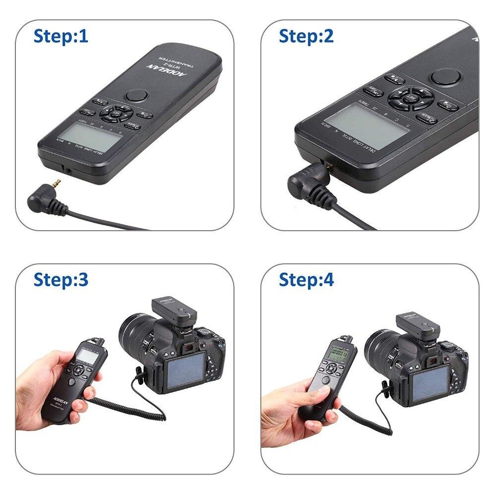 AODELAN WTR2 sans fil minuterie télécommande caméra déclencheur pour Canon EOS R, 80D, 77D, 70D, 60D, 800D, 200D, 7D Series, 5D - 6