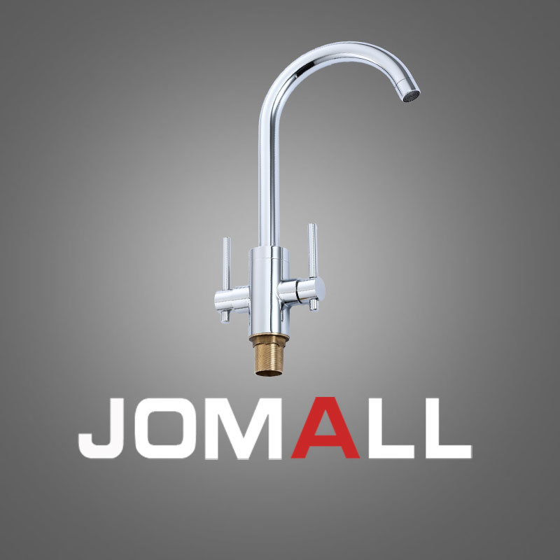 New modern Brass Chromed faucet water tap Stainless Steel Kitchen Faucet Mixer Tap Kitchen Faucet 3 Way Water Filter Tap