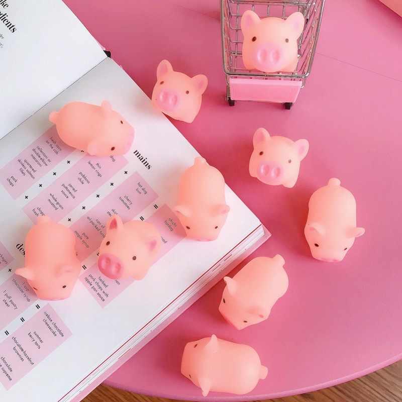 3/5 шт./партия жевательная игрушка для собак, игрушка для мягких восхождений, мультяшная милая маленькая игрушка свинья, встроенный динамик для снятия стресса