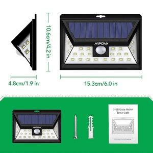Image 5 - Mpow CD013 רחב זווית 24 LED אורות שמש Motion חיישן אור עבור פטיו גן חצר קיר תאורת חיסכון באנרגיה outroor מנורות