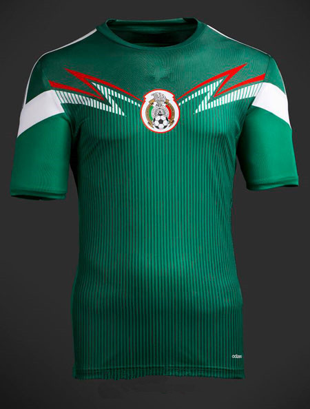 c759006674b 2014 Brazil World Cup Mexico National Team Soccer Jersey Mexico home green  football jersey