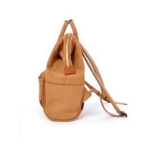 Image 3 - Japan brand PU leather School Backpacks Girls&boys College Bag Women Large Capacity Ring Backpack