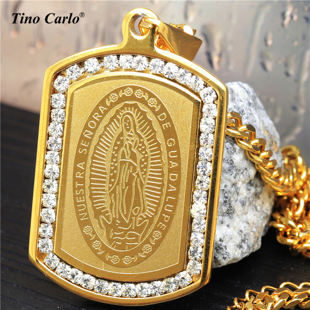 pendan mary miraculous mother virgin pendant of gold chain pearl medallion res plated itm necklace medal