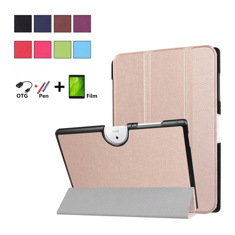 New Smart Case for Acer Iconia One 10 B3-A40 B3 40 10.1'' Edtion Ultra Slim PU Leather Case Cover for B3-40 Auto Sleep Wake up slim print case for acer iconia tab 10 a3 a40 one 10 b3 a30 10 1 inch tablet pu leather case folding stand cover screen film pen
