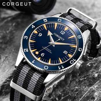 Corgeut Luxury Brand Seepferdchen Military Mechanical Watch Men Automatic Sport Design Clock Leather Mechanical Wrist Watches - DISCOUNT ITEM  41% OFF All Category