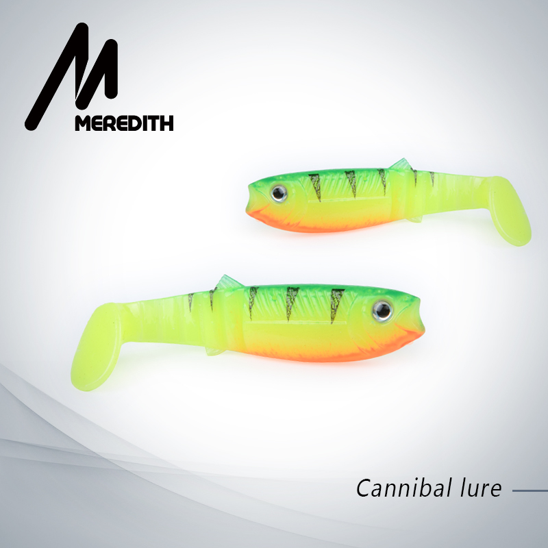 MEREDITH New arrival JX62-08 Hot Model 10PCS 5.5g 8cm Fishing Lures Soft Cannibal Shad 3D Fish Lifelike Lures  Free Shipping cannibal