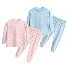 2019 children Autumn Pajamas clothing Set Boys & girls Print Sleepwear Suit Set kids long-sleeved+pant 2-piece baby clothes baby pajamas suit spring summer girls clothing set kids cotton 2 pcs children outfit home tracksuit clothes for girls sleepwear
