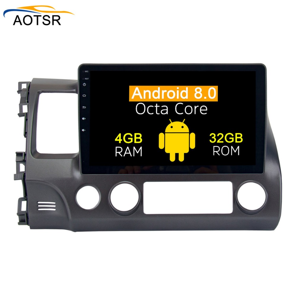 2 <font><b>din</b></font> <font><b>Android</b></font> <font><b>8.0</b></font> <font><b>Car</b></font> multimedia player Radio head unit For Honda Civic Sedan 2007 - 2011 gps navigation <font><b>Stereo</b></font> cd dvd octa core image