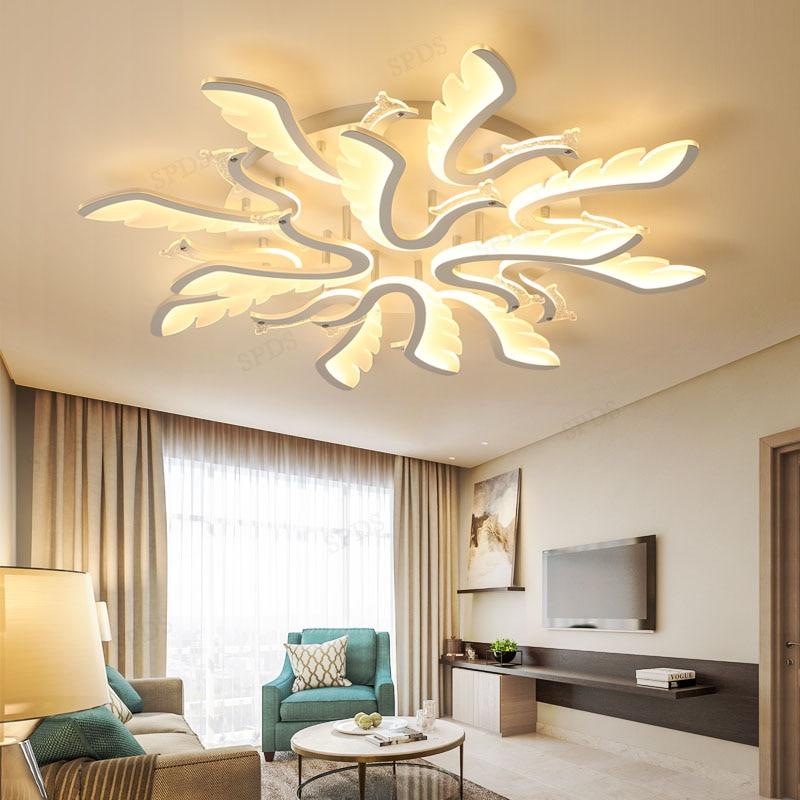 Commercial Lighting In Phoenix: Modern Iron Acrylic Phoenix Bird Series Led Ceiling Light