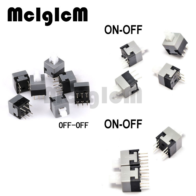 30pcs Latching Push Button Switch 8.5*8.5mm DIP 3pin 8.5x8.5MM Self-Lock and Momentary Square Switch 1 x 16mm od led ring illuminated latching push button switch 2no 2nc