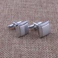 High quality cooper cufflinks w/silver color for man T Shirt free shipping
