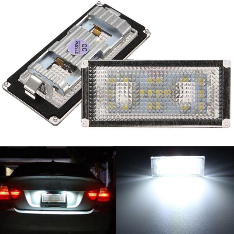 2 шт. ошибка бесплатный 18 светодиодов номерной знак света для BMW Е66 Е65 7-й серии 735i Белый