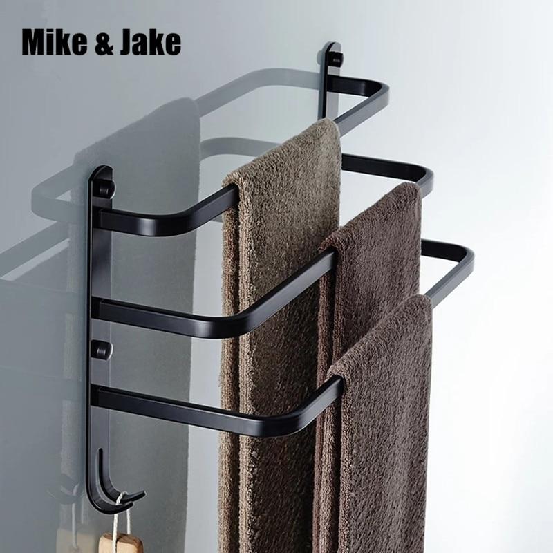 Bathroom Black Towel Bars Three Towel Bar Horse Bathroom