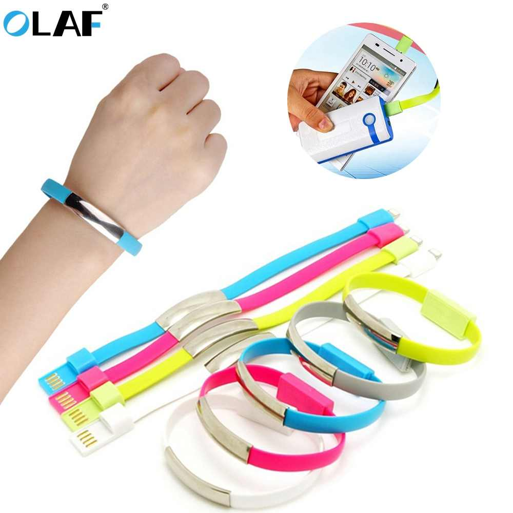 OLAF Bracelet USB Charger Cable Wearable Portable Type C Micro USB Phone Charger Cord for iPhone Xs Max Samsung Xiaomi Huawei