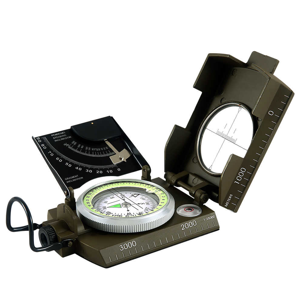 Compass high-precision exploration directional off-road slope meter  multi-function geological compass instrument compass